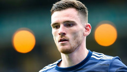 Scotland captain Andy Robertson could become a legend in his homeland with victory over England on Friday Creator: Robert Perry