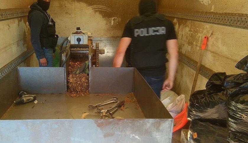Lewy tytoń w rękach policji