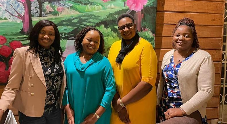 Kirinyaga Governor Anne Waiguru met with Senator Kihika Kimani, Malindi MP Aisha Jumwa and Nyeri Woman Rep Rahab Mukami.