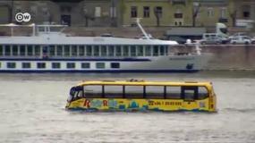 Pływający autobus na Dunaju w Budapeszcie