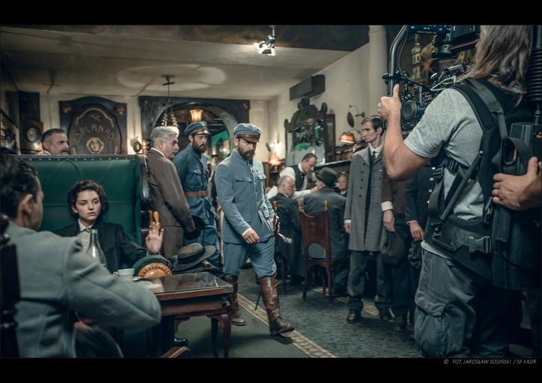 """Kadr z filmu """"Piłsudski"""" - reżyseria Michał Rosa. W roli marszałka Borys Szyc. fot. Jarosław Sosiński."""