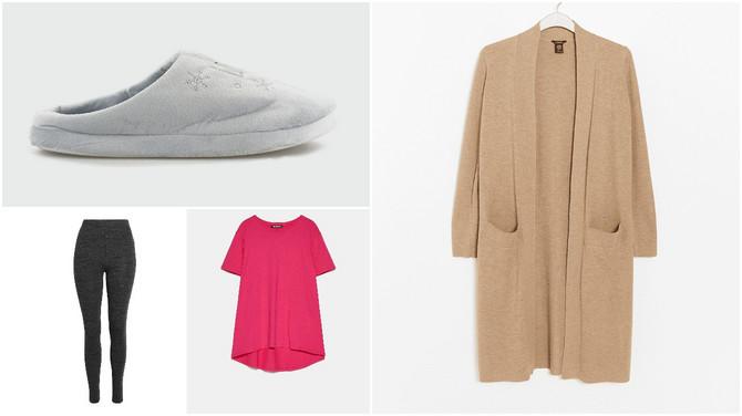 """Kardigan i helanke """"Lindex"""", majica """"Zara"""", papuče """"Metro"""""""