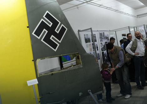 """Deo nemačkog borbenog aviona Ju-87 B2 """"štuka"""""""