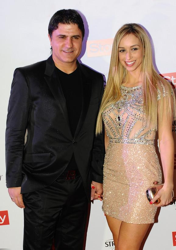 Nenad Jestrović sa sadašnjom suprugom Miljanom