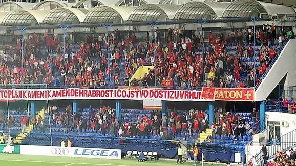 Južna tribina na kojoj je došlo do obračuna navijača Crne Gore