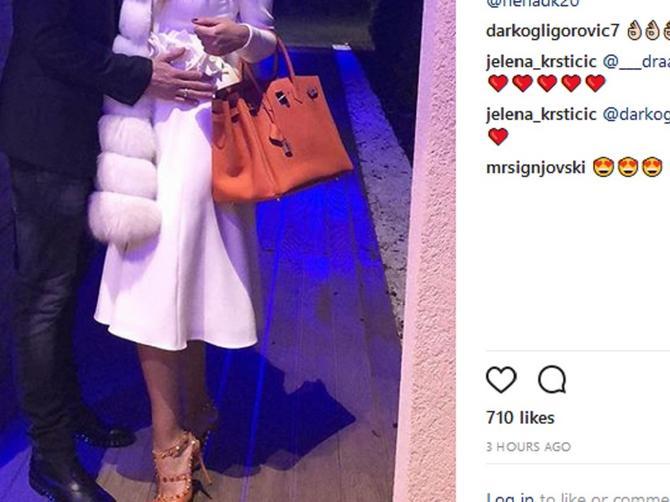 Supruga našeg fudbalera se opasno skockala: Od cene njene torbe i sandala zavrteće vam se U GLAVI