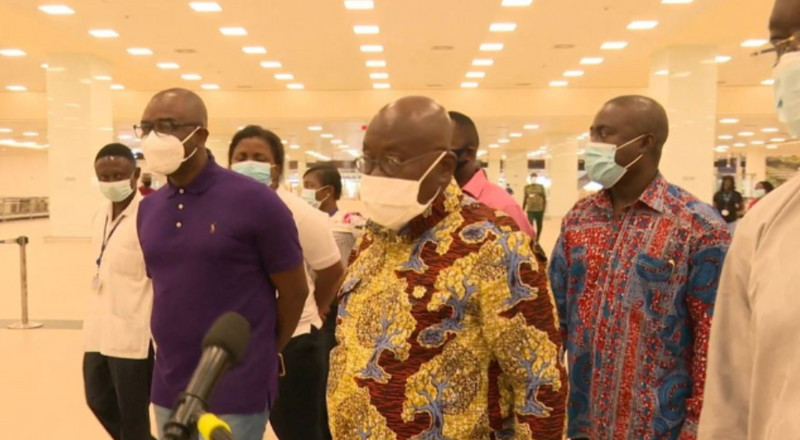 Akufo-Addo inspects work at Kotoka Airport ahead of reopening
