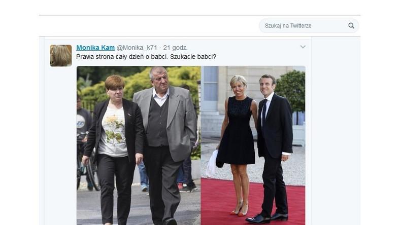 Kolaż zdjęć państwa Szydłów i pierwszej pary Francji jest odpowiedzią jednej z internautek na uszczypliwe uwagi pod adresem Brigitte Trogneux padające ostatnio raz po raz z ust członków PiS. Fotografia w krótkim czasie zdobyła ogromną popularność w Sieci i została skopiowana m.in. na wielu fanpage'ach w mediach społecznościowych. Jak nietrudno się domyślić, komentujący je internauci nie przebierają w słowach, oceniając wygląd polskiej premier i jej męża. Na państwu Szydłach dosłownie nie zostawiono suchej nitki, a...