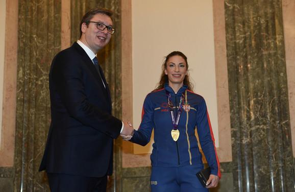 Aleksandar Vučić i Ivana Španović