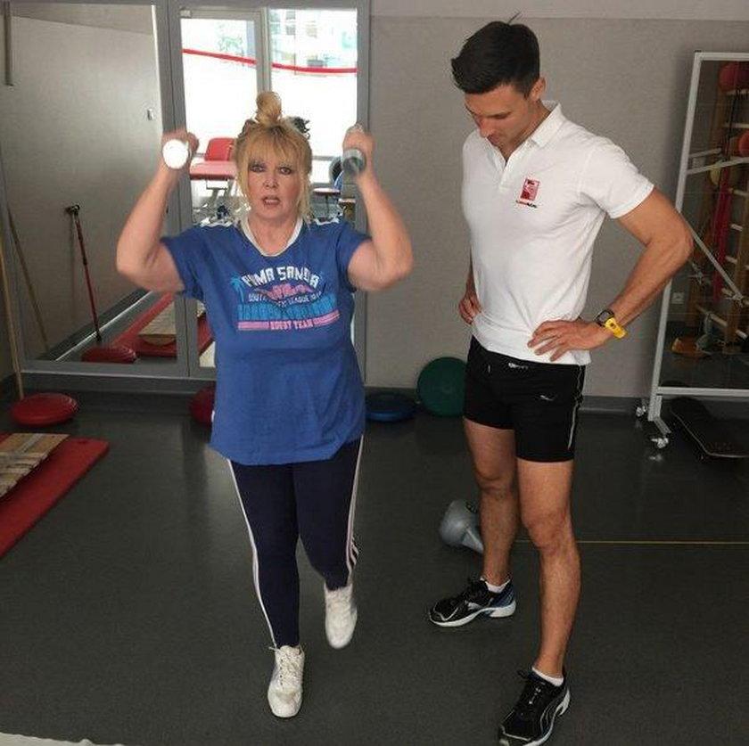 Maryla Rodowicz na siłowni