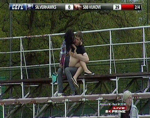 TVkamere Sport kluba zabeležile su zanimljiv detalj na tribinama u Ljubljani