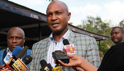 A file photo of former Imenti Central MP Gideon Mwiti at Gigiri police station in Nairobi where he recorded a statement on rape allegations. (COURTESY: COLLINS KWEYU)