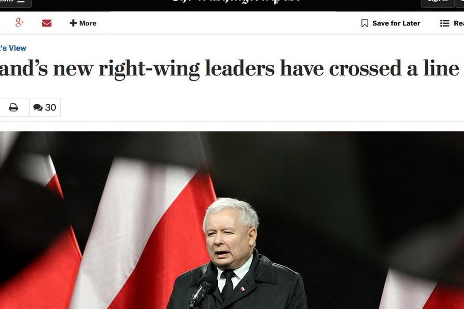 Washington Post o PiS