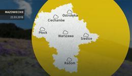 Prognoza pogody dla woj. mazowieckiego - 22.03