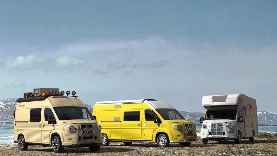 Citroën Typ H Wildcamp, Campervan i obudowana kabina w półzintegrowanym kamperze – to 3 z 9 propozycji Caselani Automobili na siedemdziesiątą rocznicę powstania Citroëna H
