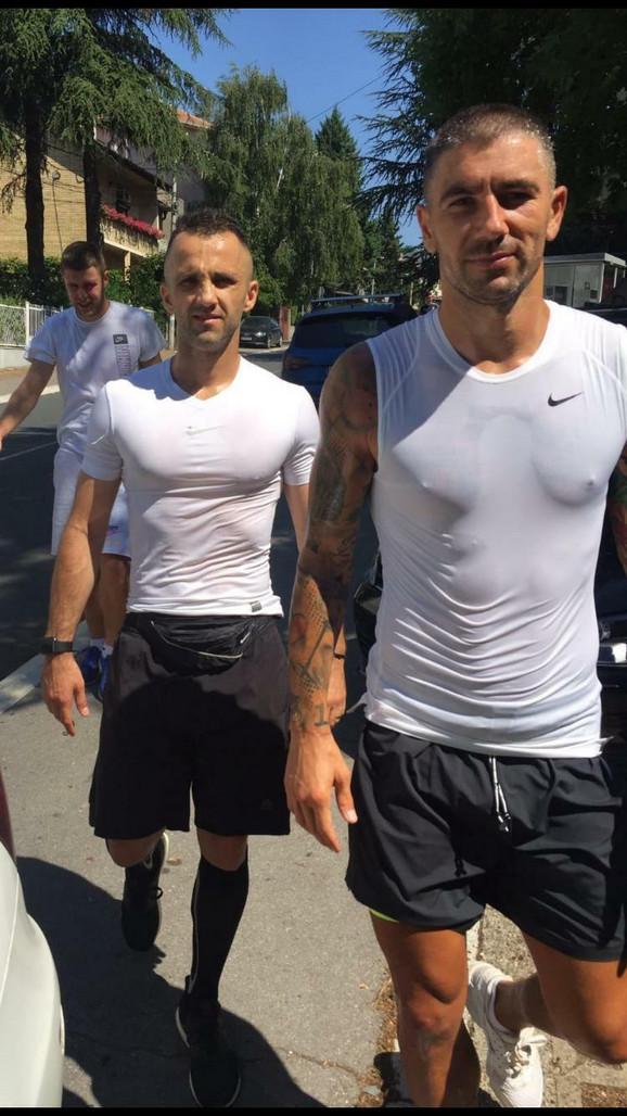 Andreja Milutinović i Aleksandar kolarov