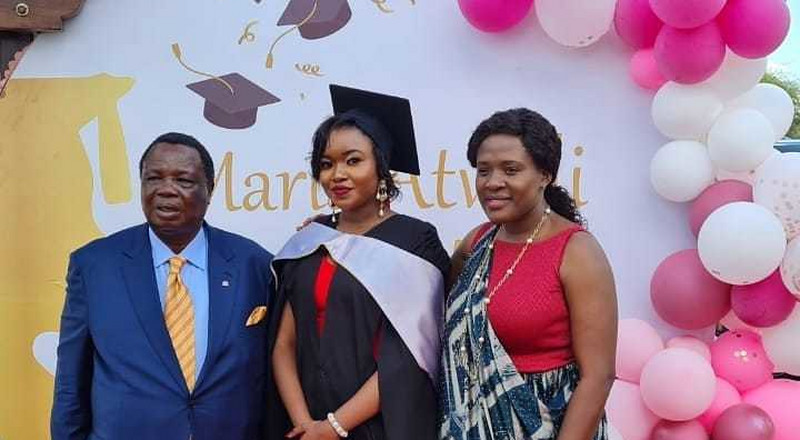 Francis Atwoli throws lavish party for daughter as she graduates with Law degree (Photos)