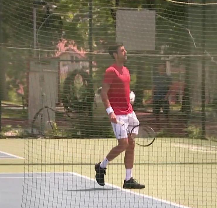 Novak Đoković trenira u Beogradu