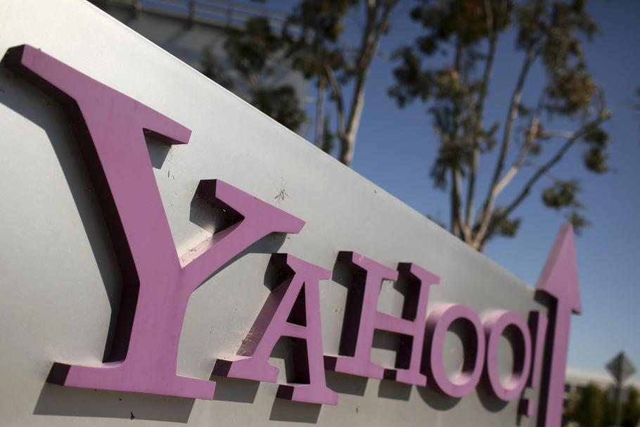 File photo of the Yahoo logo is shown at the company's headquarters in Sunnyvale