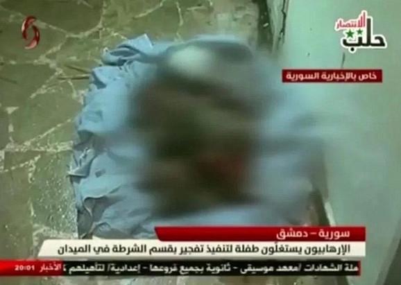 Ostaci devojčice prikazani su na sirijskoj televiziji