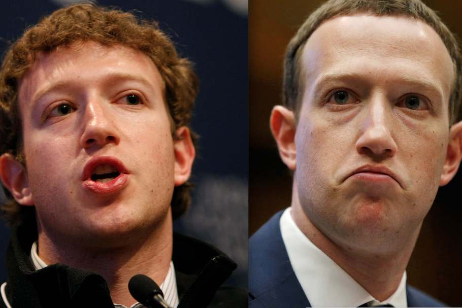 Mark Zuckerberg 2009/2019