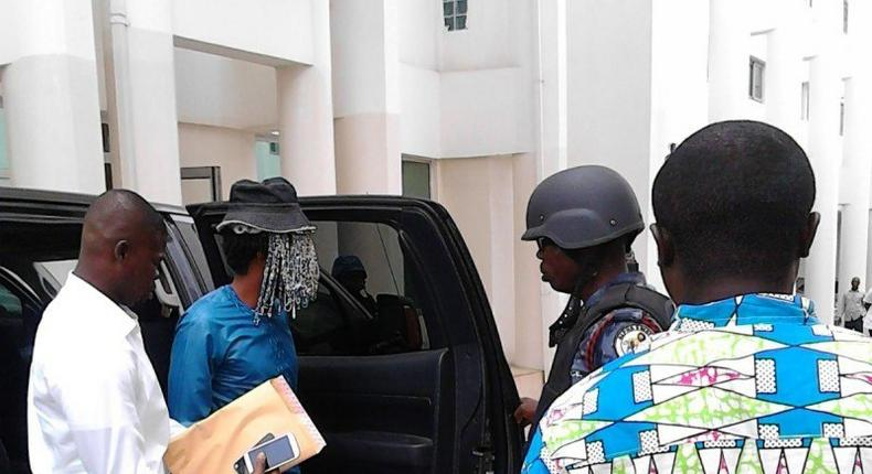 Disguised Anas at the court premises last Friday