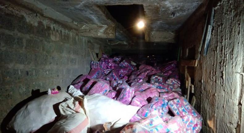 Police bust cartel repackaging expired GoK Sanitary Towels