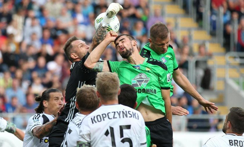 Pilka nozna. Ekstraklasa. Gornik Leczna - Legia Warszawa. 13.08.2016