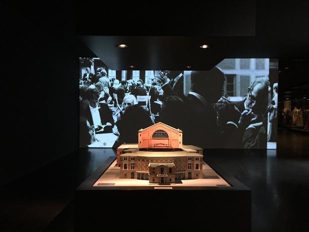 Makieta budynku Festspielhaus w Richard Wagner Museum