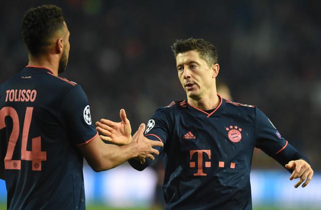 Toliso i četvorostruki strelac na meču FK Crvena zvezda - Bajern Minhen, Robert Levandovski