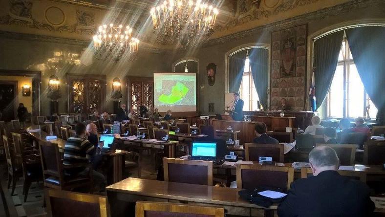 Sala obrad rady miasta Krakowa