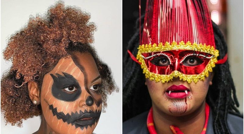 Which of these Halloween-inspired makeup looks was a total win?(photos)