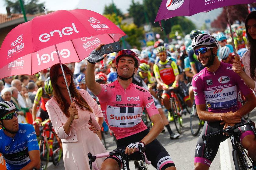 Tom Dumoulin – lider Giro d'Italia, załatwił się przy trasie wyścigu