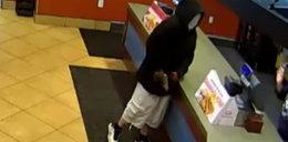 Zamaskowany rabuś napadł na restaurację. Tego się nie spodziewał