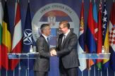 Aleksandar Vučić, Jens Stoltenberg, Vežba, NATO, Policija, Mladenovac