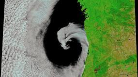 Nad Portugalią pojawił się cyklon. Satelita zrobił mu zdjęcie