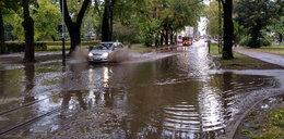 Burza i ulewa w Łodzi. Miasto sparaliżowane przez powódź
