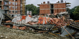 Zawalił się nowo budowany blok w Bielsku-Białej. Ludzie plotkują, że go wysadzono!