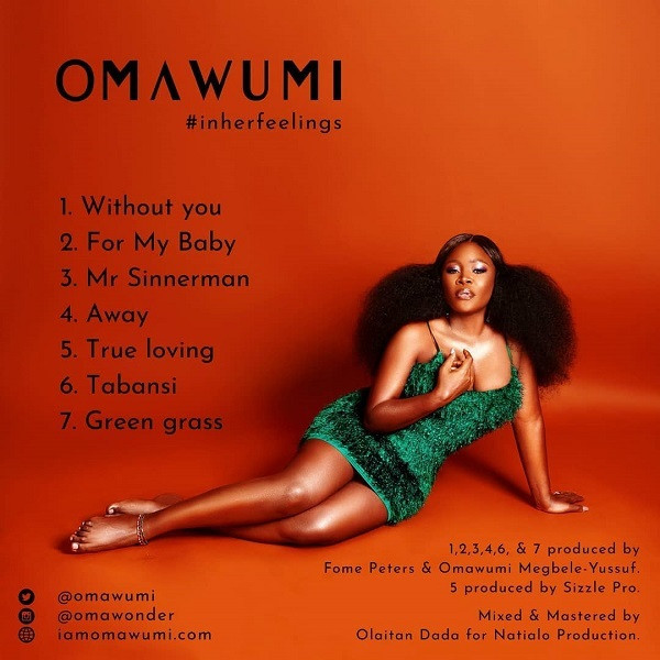 Track List for 'In Her Feelings,' Omawumi's fourth studio album. (Hernanez Music)