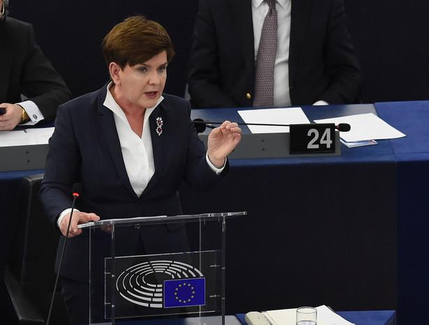 Premier Beata Szydło w PE