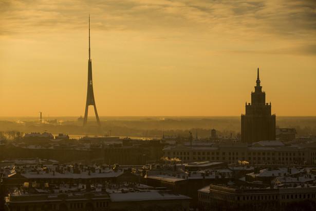 Widok na Rygę, stolicę Łotwy