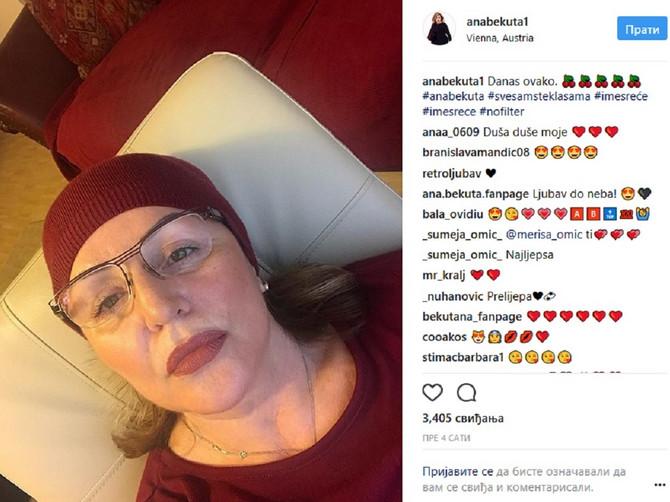 Ana Bekuta objavila ovakav selfi: Usledili su komentari kojima ovde UOPŠTE NIJE BILO MESTO