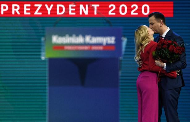 Kandydat na prezydenta z żoną
