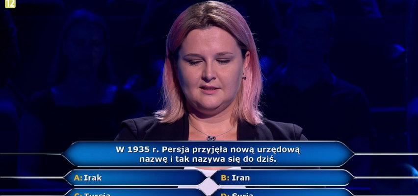 """W """"Milionerach"""" padło pytanie o Persję. Uczestniczka nie miała pewności, który kraj nosił taką nazwę do 1935 roku!"""