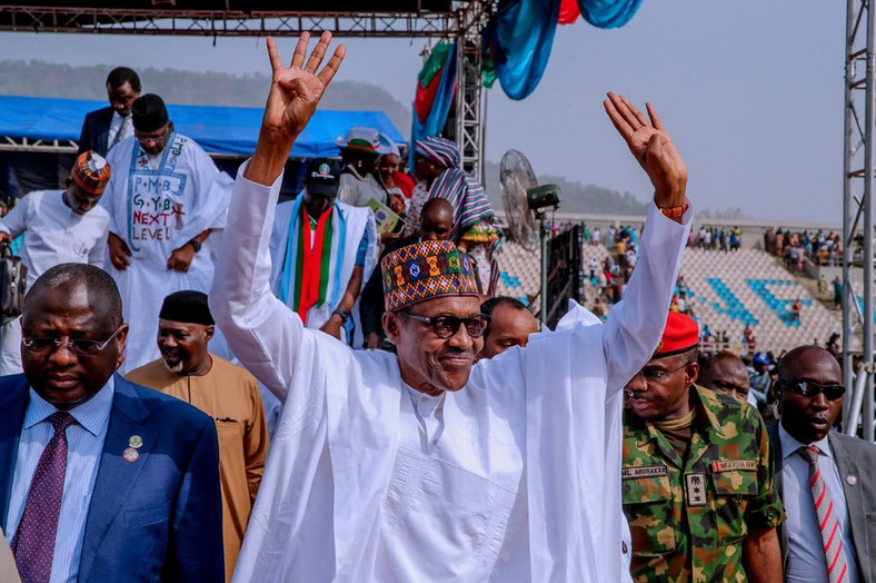 Buhari wins 2019 presidential election.