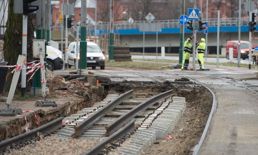 Katowice. Remont torowiska przy ul. Złotej