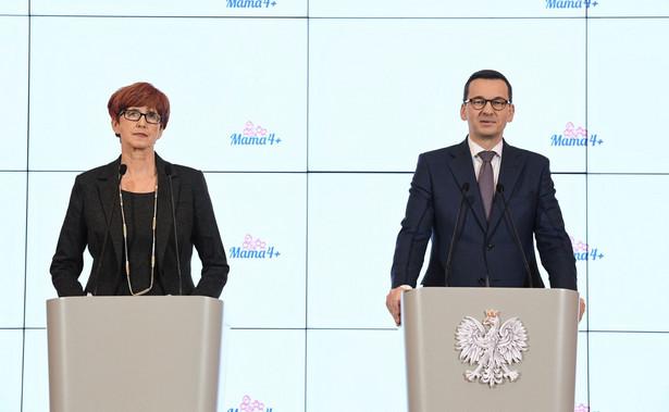 premier Mateusz Morawiecki i minister Elżbieta Rafalska
