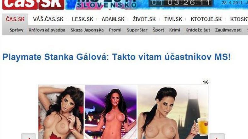 Stanka Galova tak promuje MŚ w hokeju