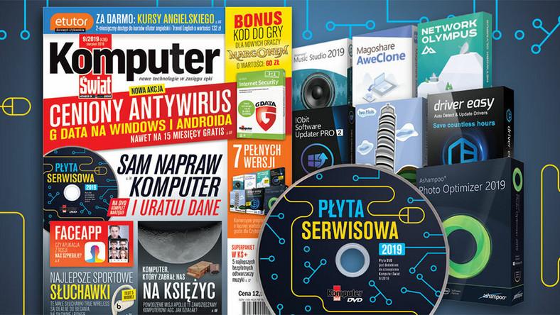 Komputer Świat 9/2019: G DATA, eTutor, Margonem, Płyta serwisowa 2019
