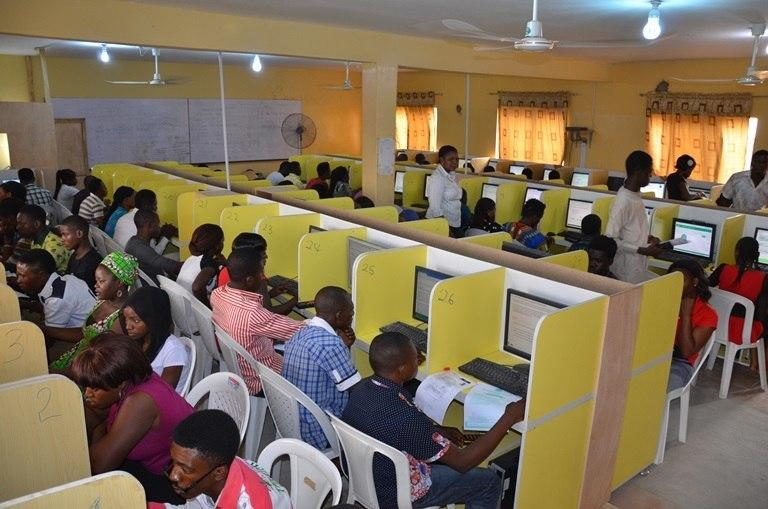 JAMB candidates at the exam centres during the previously held Unified Tertiary Matriculation Exams.